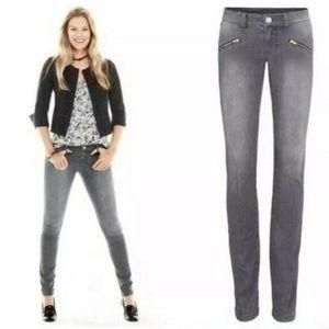 Cabi 2 Zip Gray Skinny Stretch Jeans